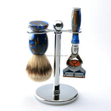 Latest Custom Logo Men's Personalized Shaving Kit Silvertip Badger Shaving Brush Set