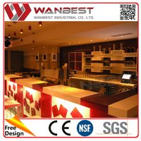 Manufacture custom design nightclub led spolight Home Bar Counter Wooden styles