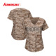 OEM custom made sublimation button down camo baseball jerseys for women