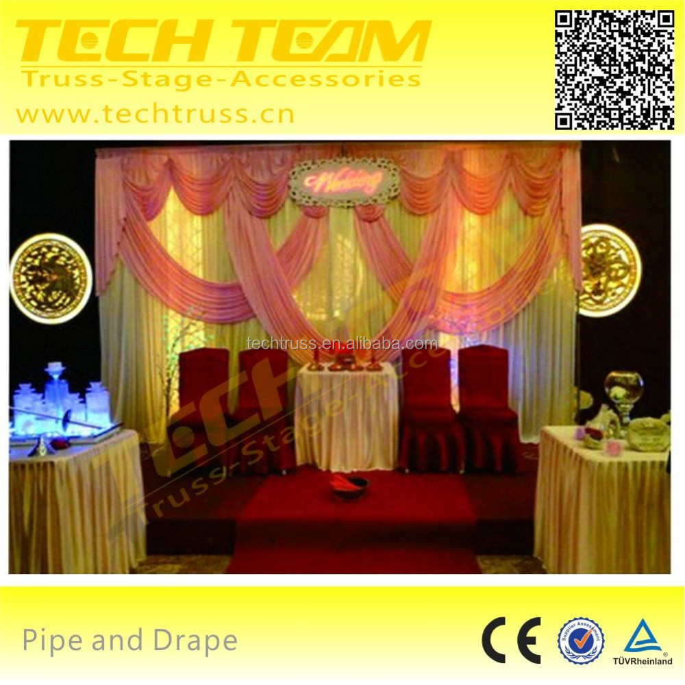 Hot sale telescopic used pipe and drape , wedding decoration pipe and drape