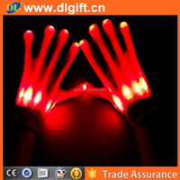 Optical Fiber LED Flashing Gloves Colorful Finger Light Shinning Party Decorations