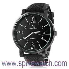 2014 Hot black band interchangeable strap rubber bracelet watches