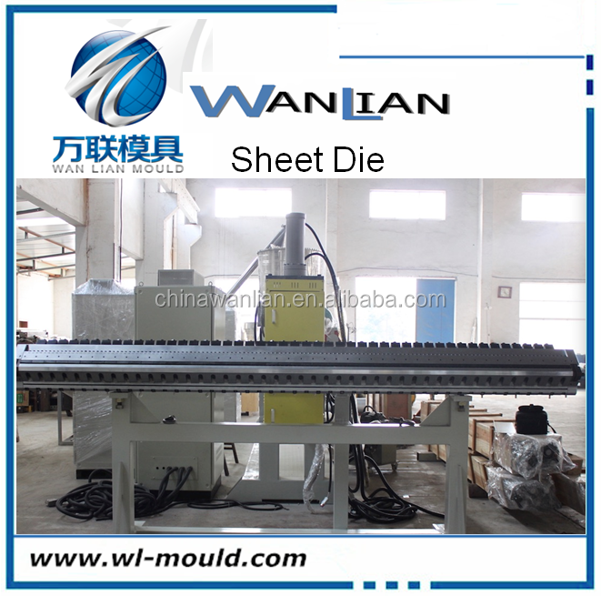 pvc/pp luggage tag sheet t-die sheet extrusion mould