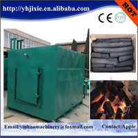 gas flow smokeless wood sawdust charcoal carbide furnace