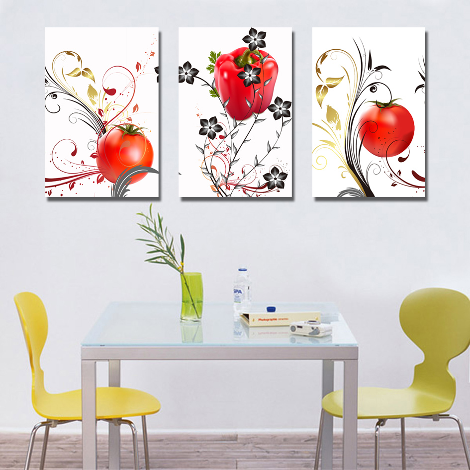 Canvas Wall Art Pictures Glass Flower Designs Abstract Acrylic Painting for Living Room