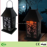 Halloween decoration metal solar lantern for garden led street light