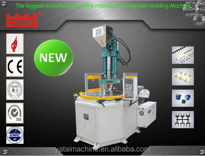 Rotary table plastic injection molding machine