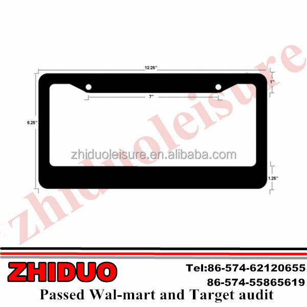 Gift car license plate frame , zinc alloy license