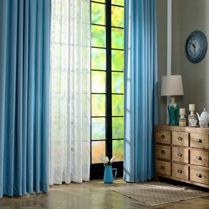 Fancy Germany bedroom kitchen solid cotton window curtain panel for drape
