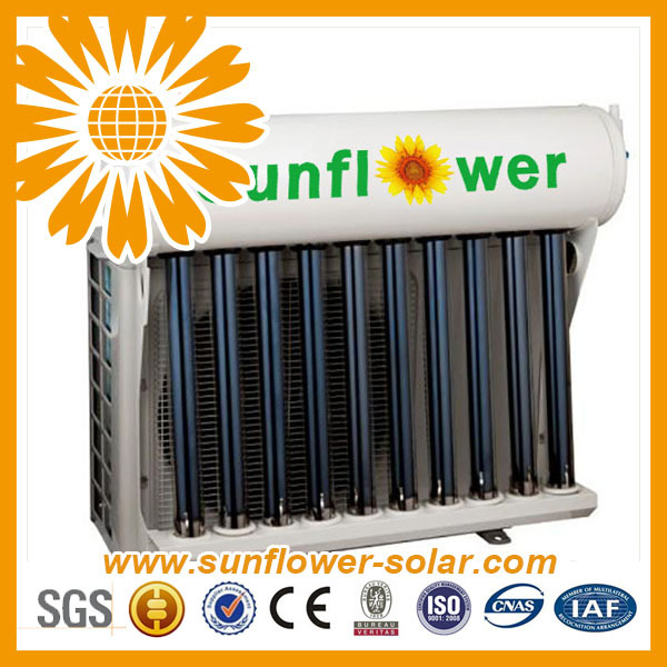 general split hybrid solar powered air conditioner