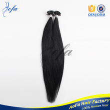 Top Quality Double Drawn 100% Remy 7A U Tip Hair European Hair 1g Silk Strands Hair Extensions