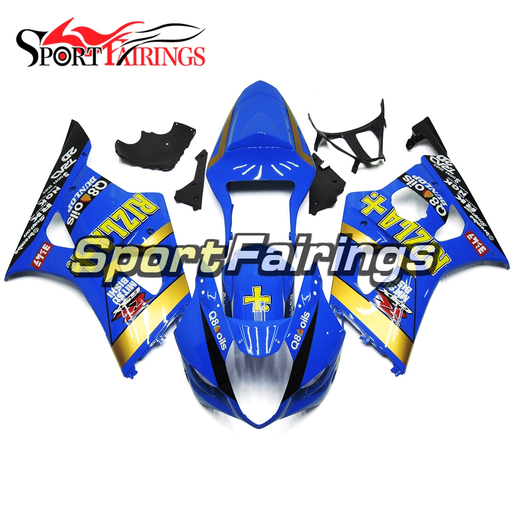 Injection Fairings For Suzuki GSXR1000 K3 03 04 ABS Plastic Complete Motorcycle Fairing Kit Body Kit Fitings Blue Hulls