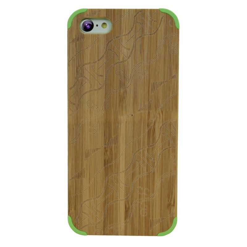 Lowest Factory Price!Protective Handmade Wholesale Wooden Case Cherry Wood Phone Cover For iphone 5C