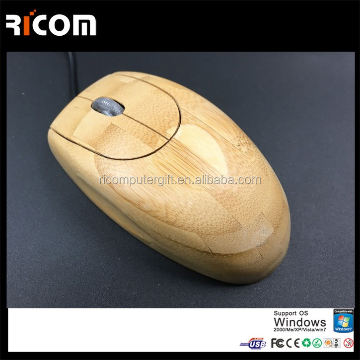 usb optical bamboo mouse,computer bamboo product,wood keyboard and mouse--MO5100--Shenzhen Ricom