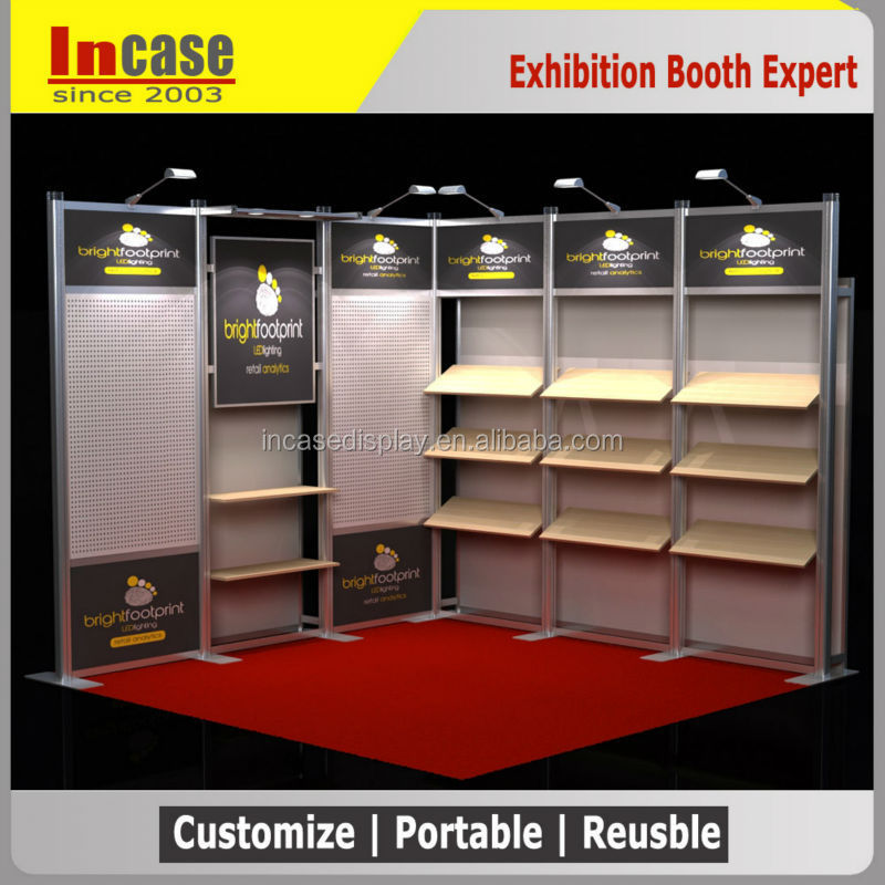 10ft Modular aluminum materials exhibition booth for trade <strong>show</strong>