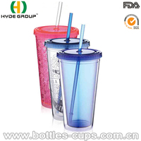 Low Price Double Wall Acrylic Tumbler with Straw Wholesale