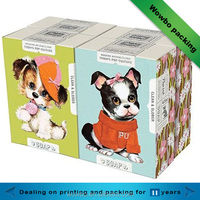 Lovely and funny carboard paper cartoon gift box packaging dog pattern printed /mask shaped box