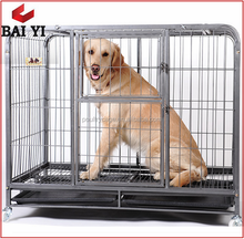 Baiyi Direct Sale Commercial Heavy Duty Dog Cage With Wheels