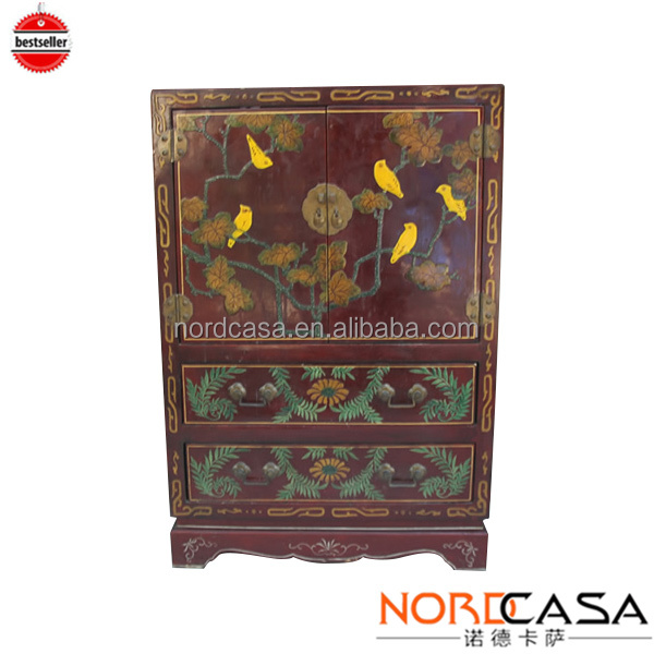 Shanxi antique chinese furniture hand painted cabinet 16050438