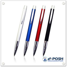 Aluminum brushed anodized ball point pen