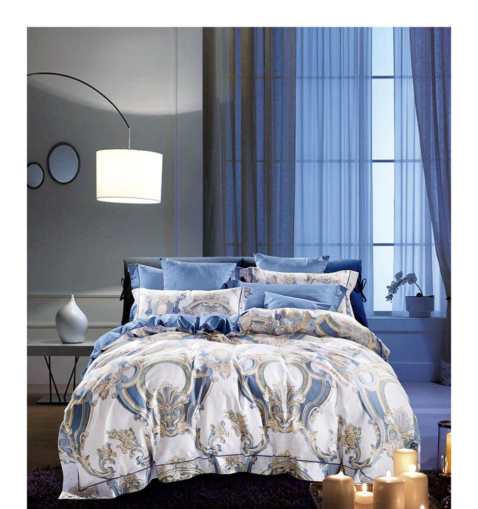 New Print Complete Cotton Bedding Set TC 200 Duvet Cover Fitted Sheet Pillowcase