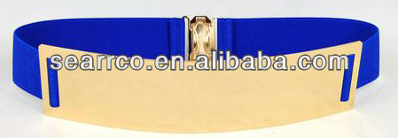 Italy Design Shinny Metal plate belt