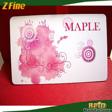 business cards embossed pvc cards/embossing name card manufacture in shenzhen
