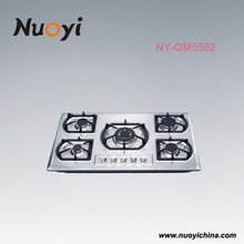 Nuoyi Stainless steel 5 burners gas hob/gas stove