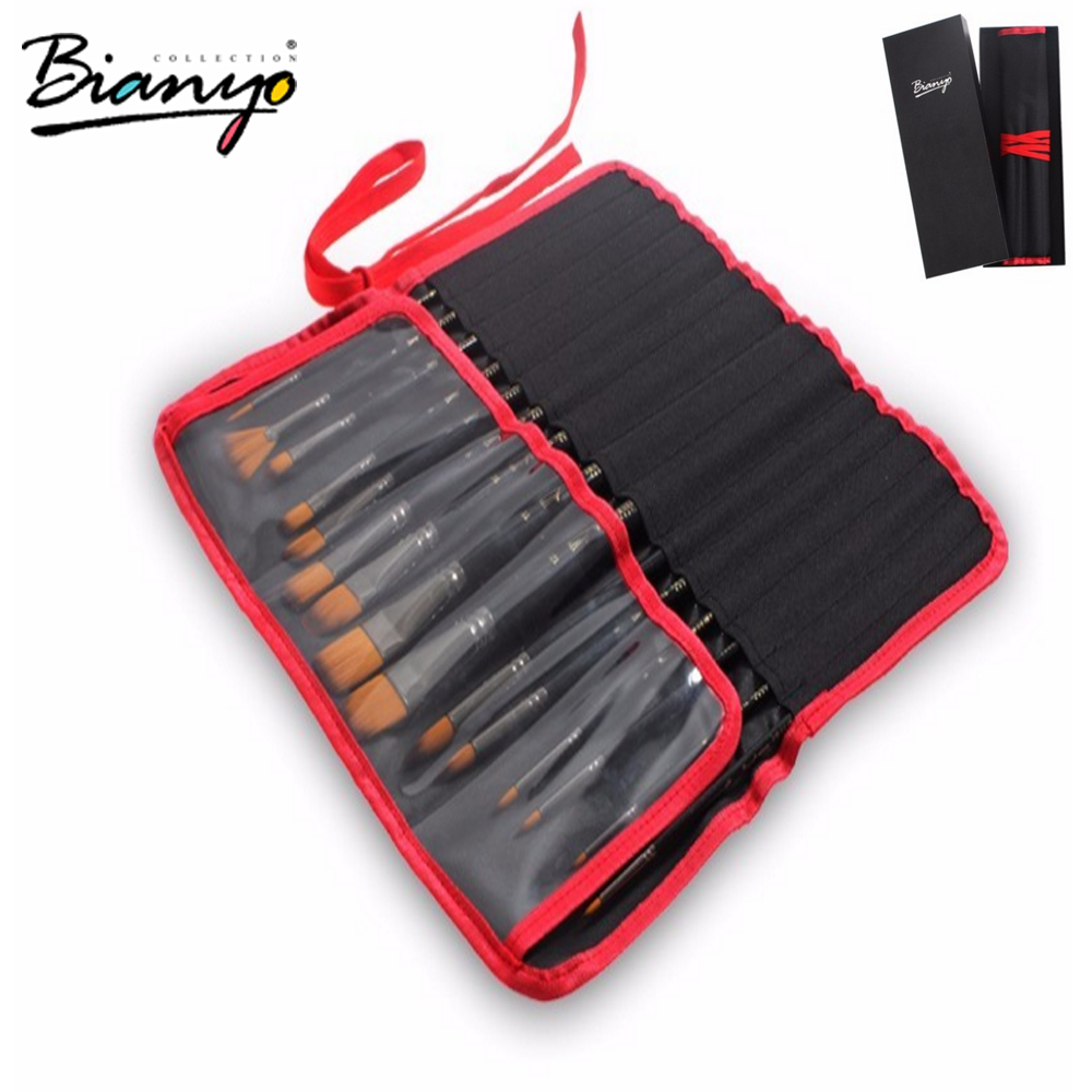 Bianyo Artist quality 15 pcs paint brushes set for oil acrylic watercolor painting