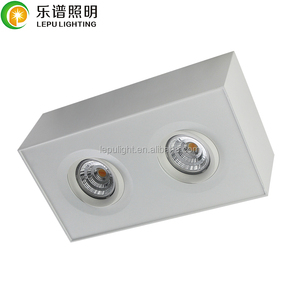 Lepu 2018 new downlights double head 1800k to 2800k dim to warm surface cube downlight led with AcTEC driver