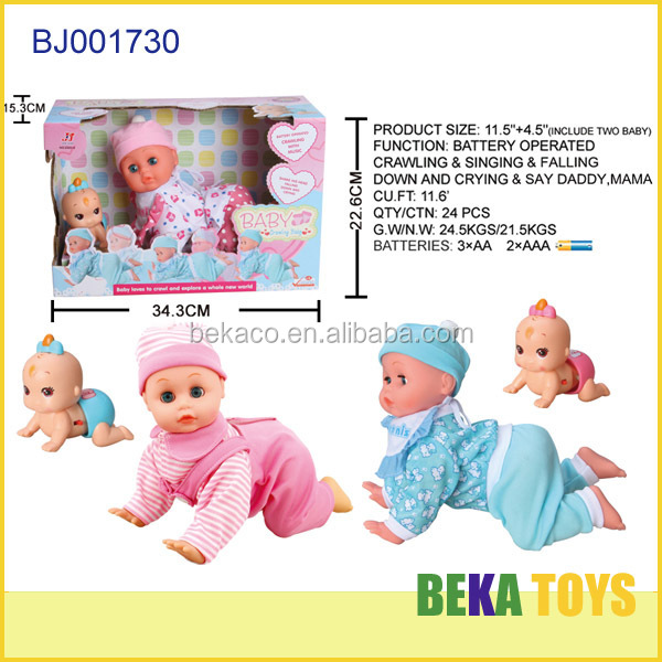 Hot item kids toy battery operated doll boy look real small crying baby doll