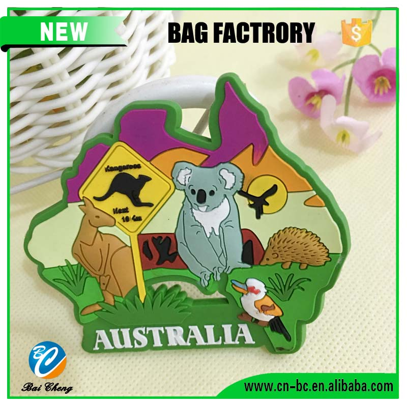 China factory rubber silicone 3d country fridge magnets with logo