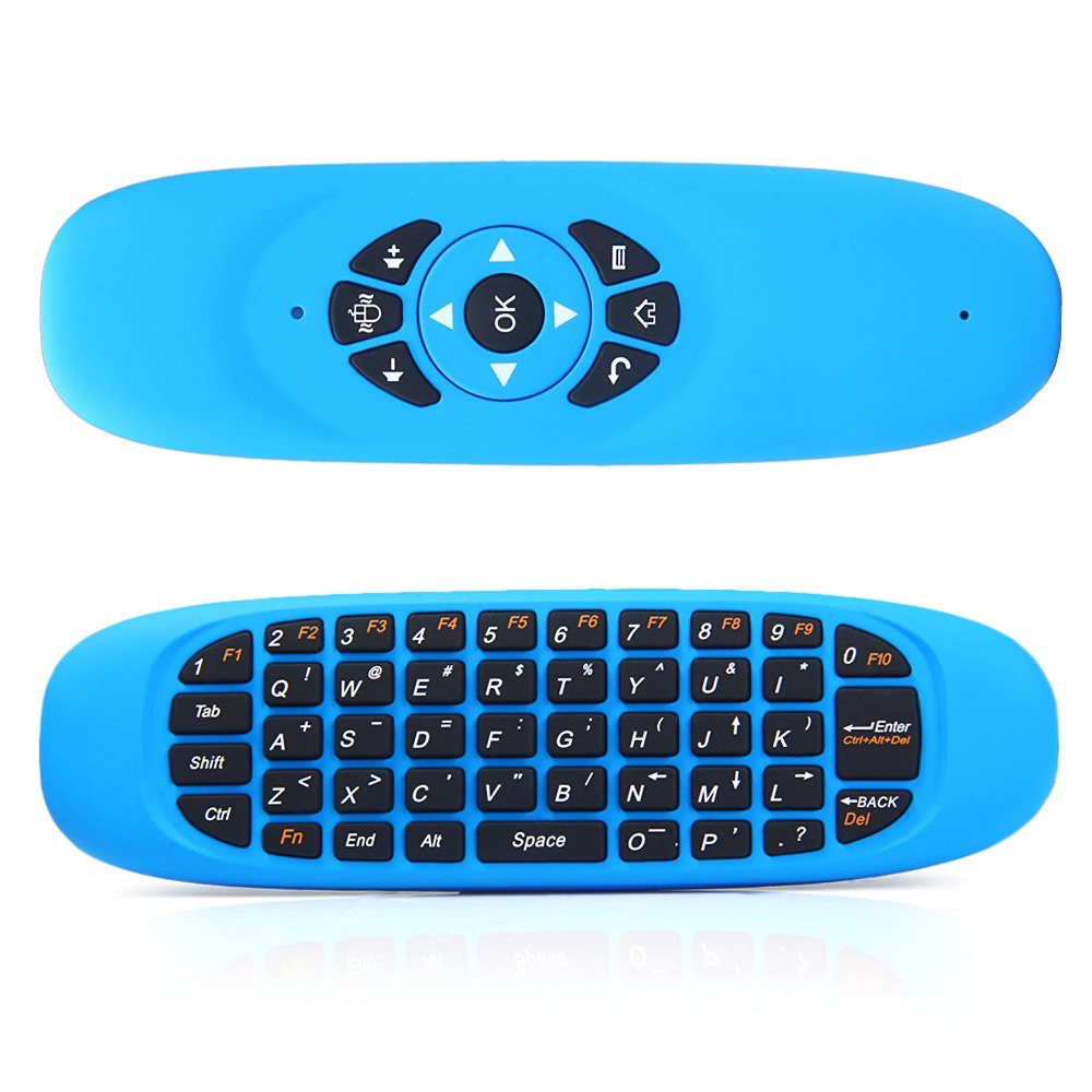 C120 2.4GHz 3D New Arrival Somatic Handle Wireless Air Mouse + QWERTY Keyboard + Remote Control for Home Entertainment