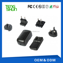 12v 1a 1.5a usb charger power supply interchangeable plug adapter