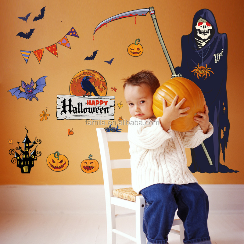 2018 Kids Cartoon Halloween theme wall sticker