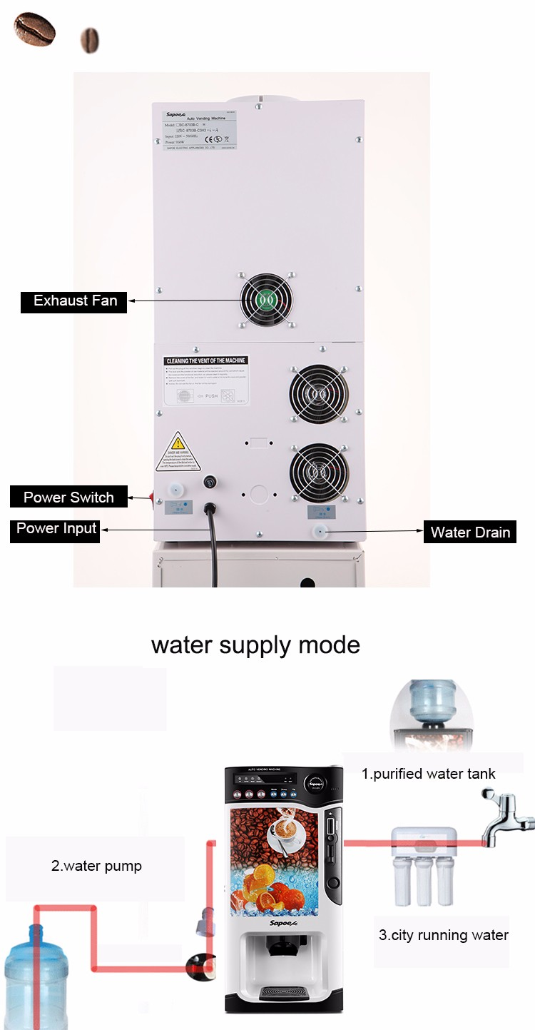 Coin operated milk machine protein vending machine/ cold water dispenser small vending machine milk dispenser machine