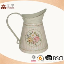 Hot selling great design wedding decorative metal pitcher wholesale