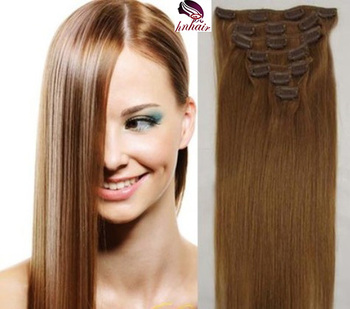 Factory Wholesale Remy Human Hair 120g 160g 180g 200g 220g 240g Clip In Brazilian Virgin Human Hair extensions