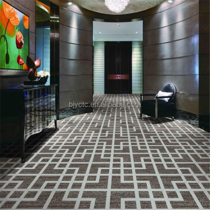 80% Wool 20% Nylon Customized Floral Pattern Axminster Carpet