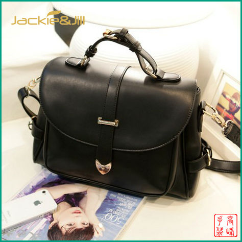 GF-B224 2013 High Quality Black Vintage Ladies Leather Handbags Fashion