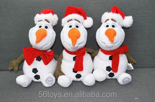 Newest Christmas style Frozen snowman plush toys 12inch frozen plush toy Snowman Olaf great Christmas gift for children