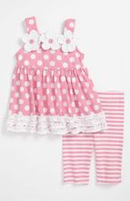 2017 baby girls pink flower tank top and stripes pants outfits toddlers boutique cute ruffled clothes set