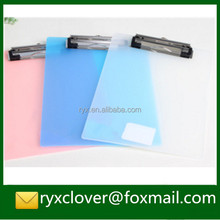Transparent A4/A5/A6 2mm PP plastic writing clipboard
