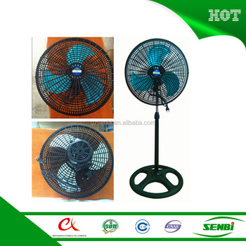 With plastic grill greenhouse auto cool solar industrial air stand fan