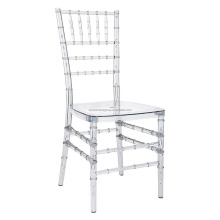 SINOFUR wholesale clear resin tiffany chair, resina sillas tiffany