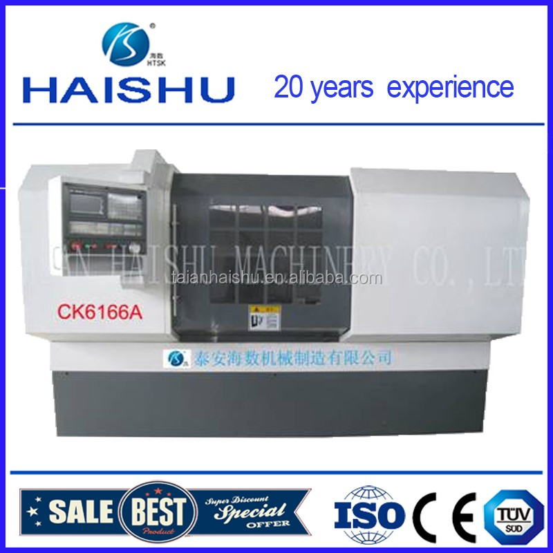 super hot sale Diamond Cut Wheel CNC Lathe Made in China CK6166