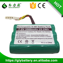 GLE NI-MH 7.2V 3500mah 25.2Wh Rechargeable Battery For Neato XV Series