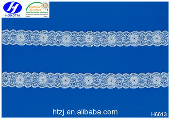 Hongtai stretch elastic lace fabric wedding dresses hair band curtains designs of kurtis with laces