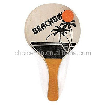 Hot Sale Wooden Beach Racket Light Weight Beach paddle