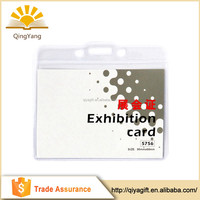 Exhibition card sleeves portable transparent pvc plastic card cover